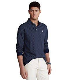 Men's Classic-Fit Long Sleeve Soft Cotton Polo Shirt