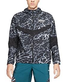 Men's Windrunner Wild Run Reflective Camouflage Hooded Jacket