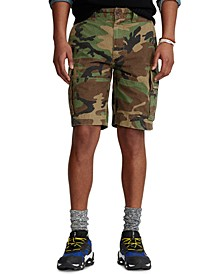 """Men's 10.5"""" Relaxed Fit Camouflage Cotton Cargo Shorts"""