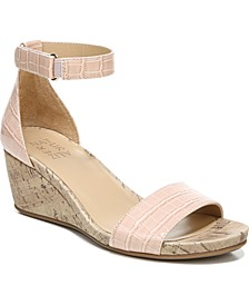 Areda Ankle Strap Wedge Sandals