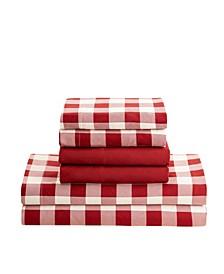 Printed Super Soft Deep Pocket Bed Twin Sheet Set, 4 Piece