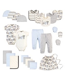 Baby Girls and Boys Layette Start Set Baby Shower Gift, 25 Pack