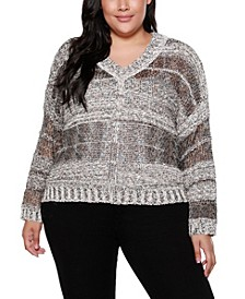 Black Label Plus Size Long Sleeve Striped Pullover