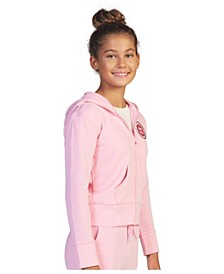 Big Girls Barbie Let Me in Zip Fleece Sweater