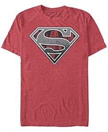 Men's Superman Concrete Logo Short Sleeve T-shirt