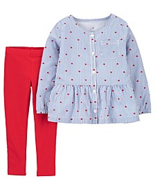 Baby Girl Heart Top and Legging Set