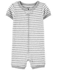 Baby Boys and Girls Striped Romper Pajamas