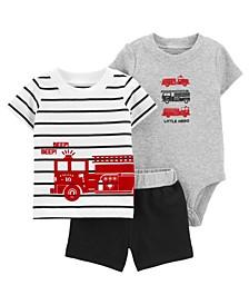 Baby Boys Firetruck Little Short Set, 3 Pieces