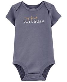 Baby Boy My First Birthday Original Bodysuit