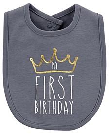 Baby Boy First Birthday Teething Bib