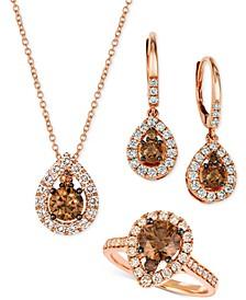 Chocolate Diamond® & Nude Diamond™  Teardrop Earrings, Ring & Pendant Necklace Collection in 14k Rose Gold