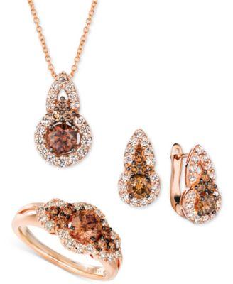 Chocolate Diamond (1/2 ct. t.w.) & Nude Diamond (1/3 ct. t.w.) 18