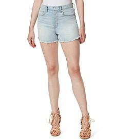 Infinite High-Waist Slim-Fit Jean Shorts