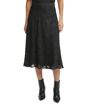 Solid Pull-On Burnout Skirt