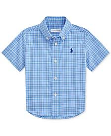 Ralph Lauren Baby Boys Plaid Stretch Poplin Shirt