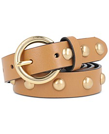Women's Dome-Studded  25mm Leather Belt