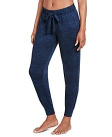 Luxe Lounge Ribbed Sleepwear Jogger Pants
