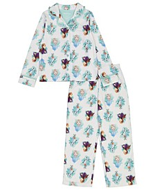 Frozen 2 Big Girls Coat 2 Piece Pajama Set