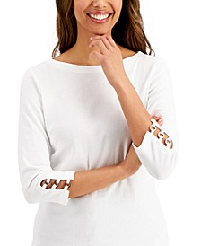 Grommet-Sleeve Boat-Neck Top, Created for Macy's
