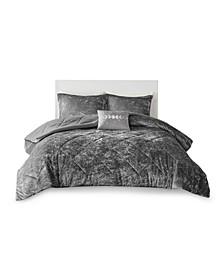 Felicia King/California King Velvet Comforter, Set of 4