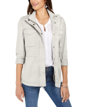 Style & Co Cottons TWILL JACKET, CREATED FOR MACY'S