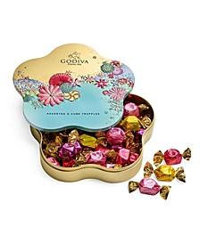 Spring Assorted G Cube Flower Tin, 32 Pieces