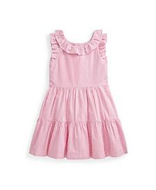 Little Girls Gingham Seersucker Dress