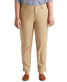 Plus-Size Slim Fit Stretch Chino Pants
