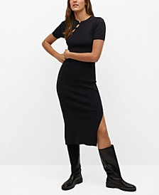 Women's Side Slit Knit Dress