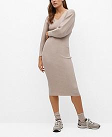 Women's Ribbed Jersey Dress
