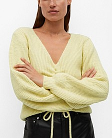 Women's Ruched Detail Sweater