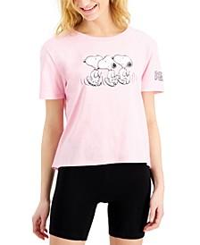 Juniors' Peanuts Snoopy-Graphic T-Shirt