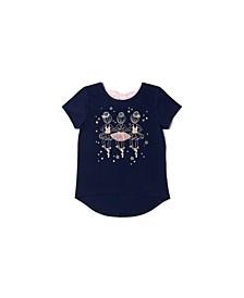 Little Girls Short Sleeve Graphic Tee