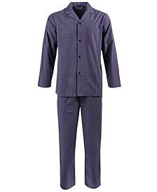 Men's Double Window Pane Pajama Set, Created for Macy's