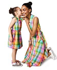 Cotton Rainbow-Plaid Sleeveless Dress, Created for Macy's