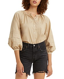 Genevieve Cotton Peasant Shirt