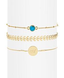 Wren Initial Turquoise Bracelet Set