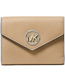 Carmen Medium Leather Envelope Trifold Wallet