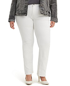 Trendy Plus Size 414 Shaping Straight-Leg Jeans
