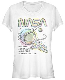 Women's NASA Colorful Short Sleeve Crew T-shirt
