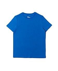 Big Boys Short Sleeve Basic Solid Tee