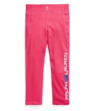 Polo Ralph Lauren LITTLE GIRLS LOGO STRETCH JERSEY LEGGING PANTS