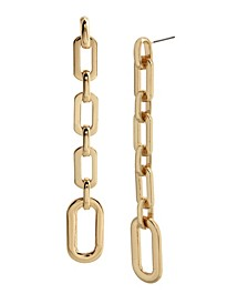 Geometric Link Linear Earrings