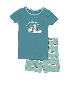 Little Girls Nikki Short Sleeve Pyjama Set