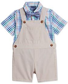 Baby Boys Plaid Bodysuit & Shortall Set