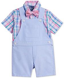 Baby Boys Solid Oxford Shortall Set