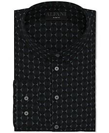 Men's Slim-Fit Performance Stretch Geo-Print Dress Shirt, Created for Macy's