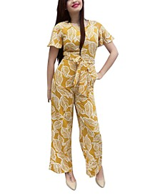 Petite Printed Jumpsuit