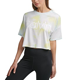 Cropped Tie-Dyed T-Shirt