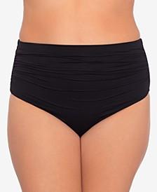 Plus Size Beach Club High Waist Bikini Bottom